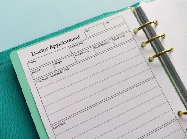 Doctor Appointment printable Insert