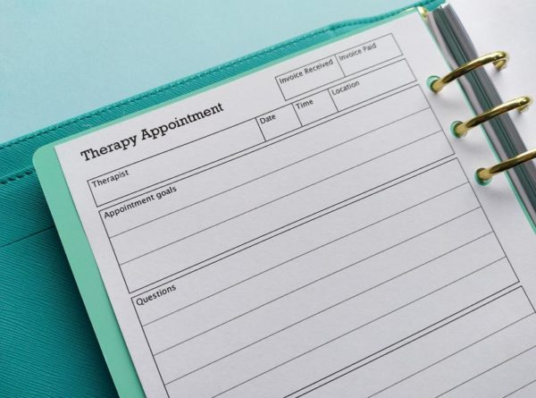 Therapy Appointment Printable Insert