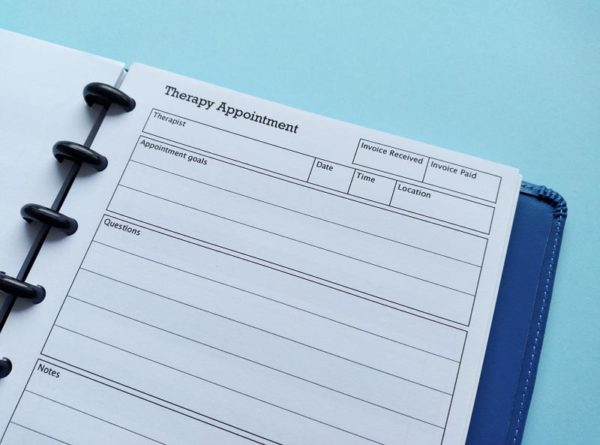 Therapy appointment Insert for disc planners