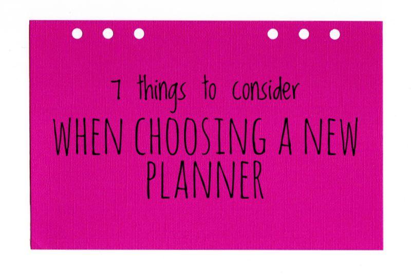 Choosing a new planner