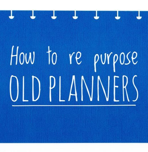 Re purpose your old planners