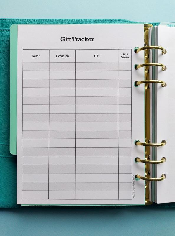 Gift Tracker digital download