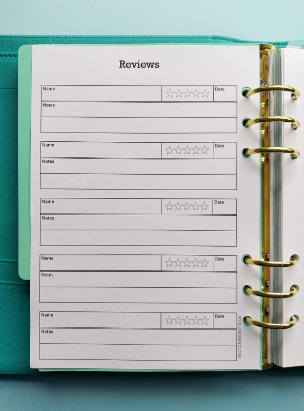 Review Tracker digital download