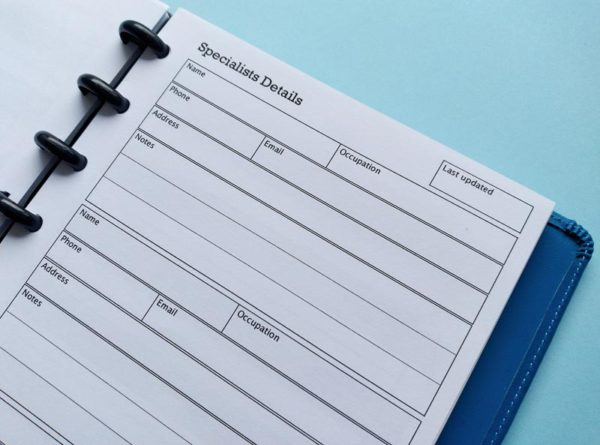 Specialists Details Insert for paper planners